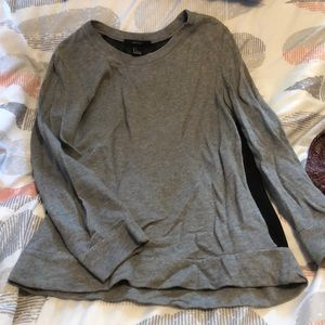 Forever 21 gray sweater with sheer black back